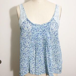 Abercrombie & Fitch Sz Small Cami Top Blue Floral